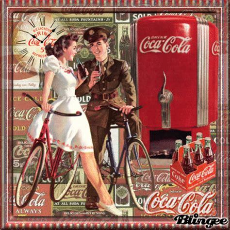 imagenes retro coca cola vintage coca cola couple fotograf 237 a 130226629 blingee com