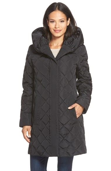 Gallery Quilted Coat by Gallery Pillow Quilted Feather Fill A Line Coat In Black Lyst