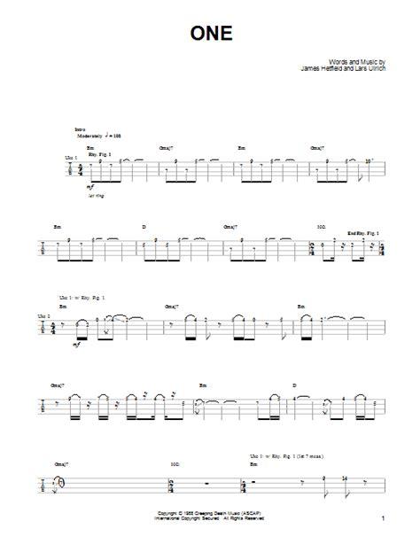 metallica one piano sheet music one sheet music by metallica ukulele 91874