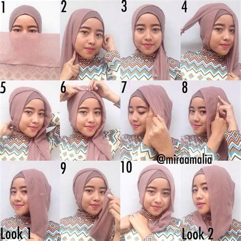 tutorial hijab simple jaman sekarang 25 best ideas about tutorial hijab terbaru on pinterest
