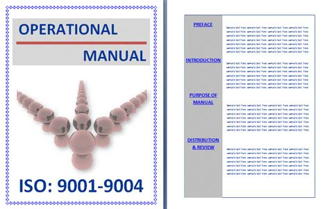 operation manual template word operational manual template free printable word templates