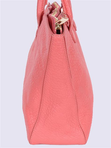 Embossed Tote burberry embossed check medium leather tote pink