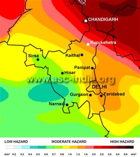 earthquake zone of delhi asc gshap seismic hazard map for chandigarh delhi