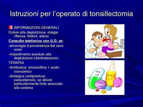 alimentazione dopo tonsillectomia la tonsillectomia
