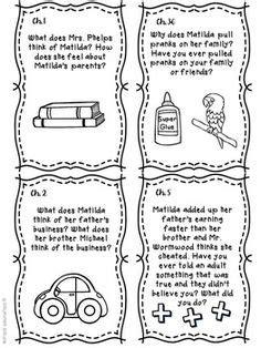 Matilda by Roald Dahl Read Aloud Activities   Book Club