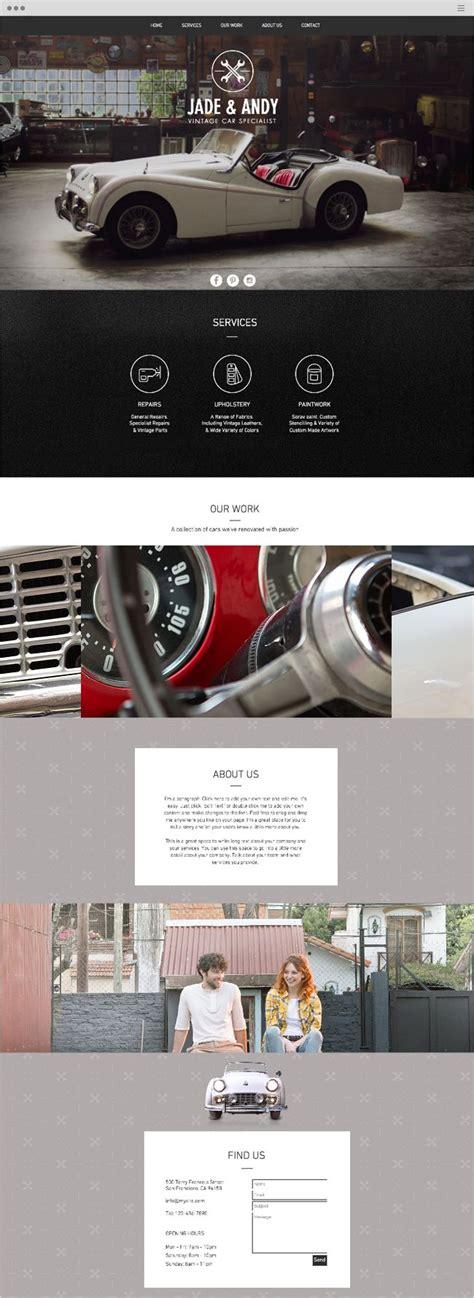 Vintage Car Garage Website Template Wix Website Templates Pinterest Cars Vintage And One Page Website Template Wix
