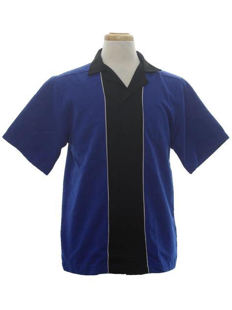 pattern bowling shirt 90 s hilton bowling shirt 90s hilton mens royal blue