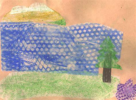 Textured Landscape Lesson Gabrielle Gamboa Teaching Portfolio