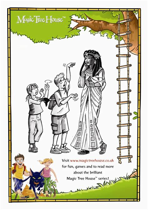 coloring page magic tree house magic tree house colouring activity scholastic kids club