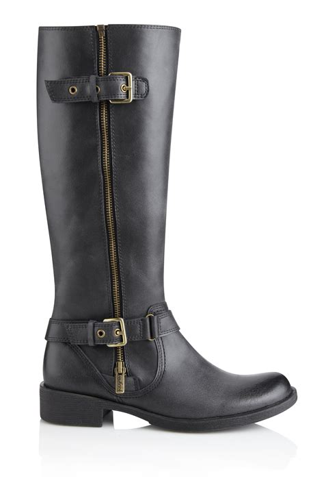 leather boots zip boots black boutique ltd