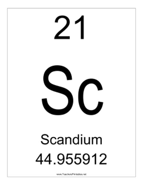 Scandium Periodic Table by Blank Daily Lesson Plan Templates For Teachers In South