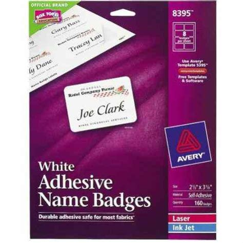 avery templates for name badges avery white name badge label 2 1 3 quot x 3 3 8 quot 8up 20