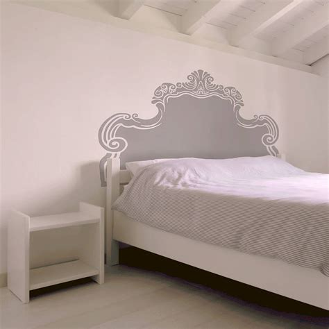 beds and headboards vintage bed headboard wall sticker by oakdene designs