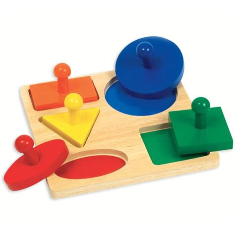 Puzzle Knob Number Type A geometric shapes board knob puzzle for toddlers educational toys planet
