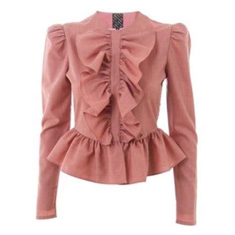 Ruffle Jacket pink ruffle antoinette pink jacket grey jacket