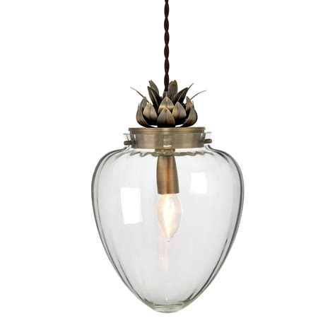 Pineapple Pendant Light Modern Glass Antique Brass Pineapple Ceiling Pendant Light Fitting Bhs Janna Ebay