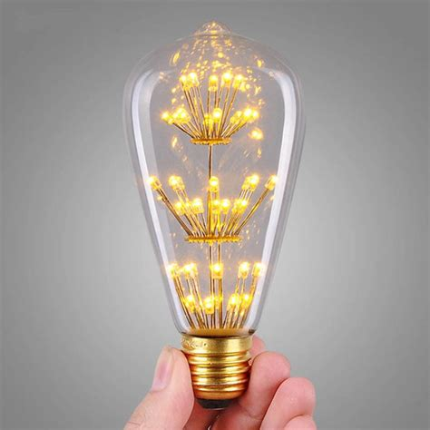 e27 st64 3w led bulb retro vintage style edison light lamp