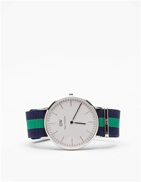 Daniel Wellington Green daniel wellington classic warwick in silver in green for
