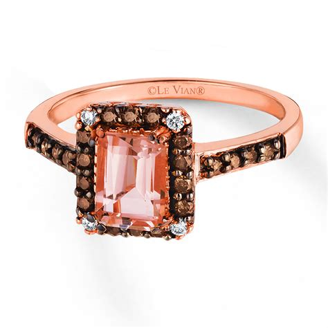 le vian morganite ring 1 4 ct tw diamonds 14k strawberry gold 374947000 sterlingjewelers