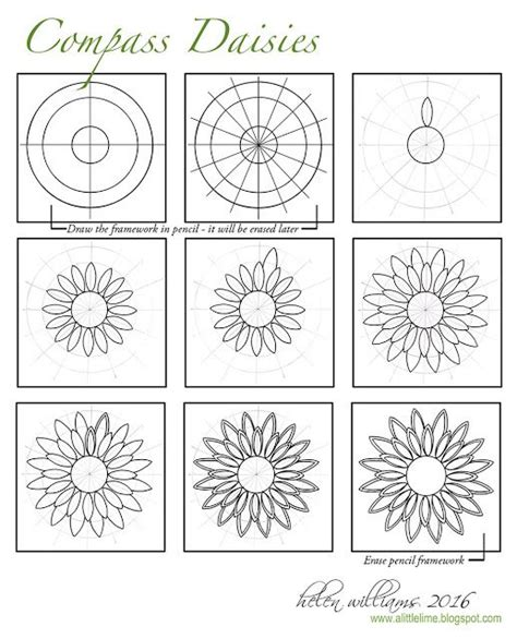 design pattern exercises a little lime compass daisies step out quick draw