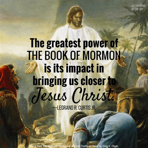 the book of the the greatest power of the book of mormon lds scripture of the day