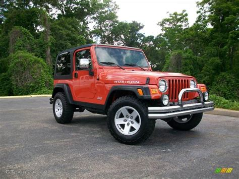 jeep rubicon orange 2006 impact orange jeep wrangler rubicon 4x4 8537551