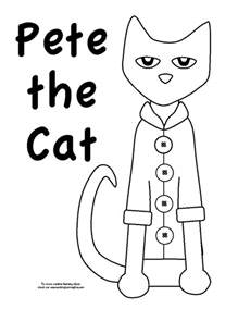 pete the cat printable template pete the cat coloring page preschool