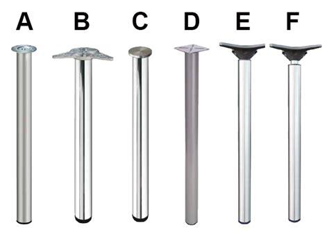 gambe per tavolo gambe tonde in metallo per tavoli
