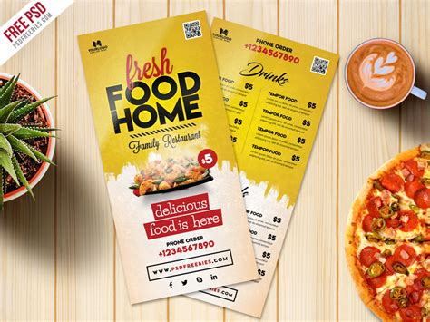 food card template free food menu card psd template freebie psdfreebies