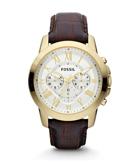 Fossil Fs0115 Brown List White fossil white leather casual price in