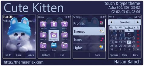 hello kitty themes asha 303 cute kitten theme for nokia asha 300 303 x3 02 c2 06
