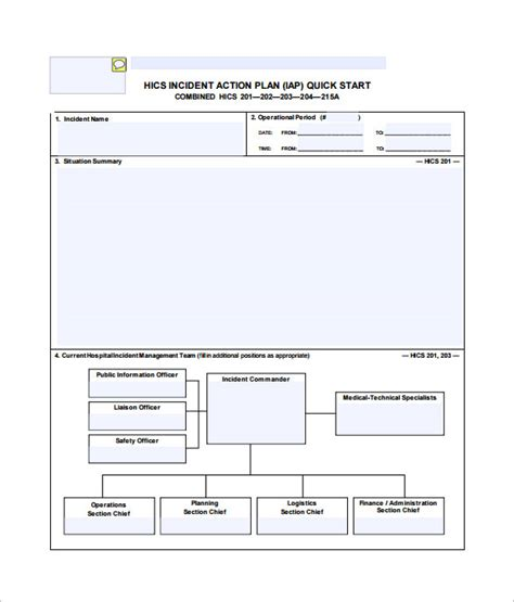 hospital plan template 6 incident plan templates doc pdf free