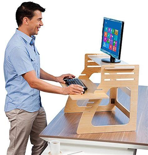 height adjustable standing desk converts any desk to a
