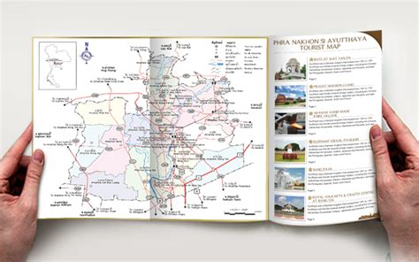 guide book layout guide book design historic city of ayutthaya ผลงานต าง