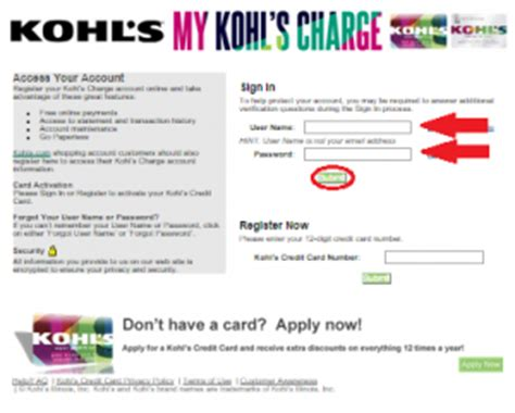make kohls credit card payment kohls credit card payment address phone number customer