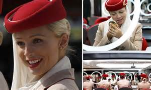 Emirates Cabin Crew Salary 2014 by Emirates Cabin Crew Reveal Top Secrets To Looking On Flights Daily Mail