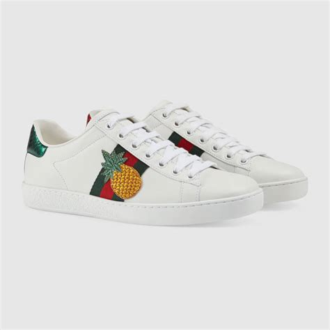 pineapple shoes gucci ladybug and pineapple embroideries leather