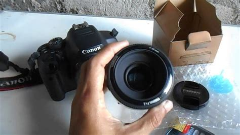 Lensa Fix Canon unboxing dan test lensa fix yongnuo 50mm di canon 700d