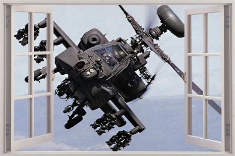 army wall stickers 3d window army helicopter view wall sticker mural decal wallpaper 168 ebay