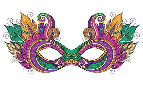 Mardi Gras Masks Clip by Royalty Free Mardi Gras Clip Vector Images