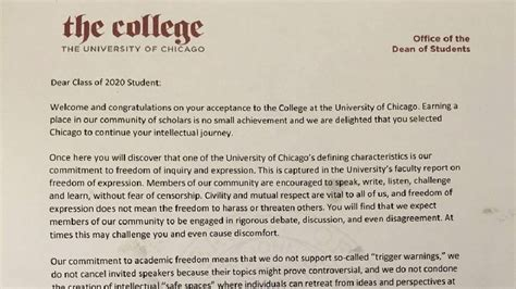Acceptance Letter To Of Chicago read the of chicago acceptance letter gaining