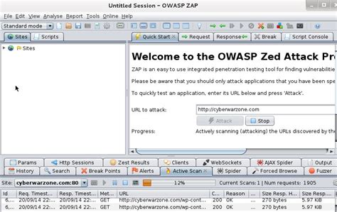tutorial kali linux mini how to use owasp zap on kali linux cyberwarzone