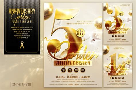 15 anniversary flyer template psd word ai and indesign