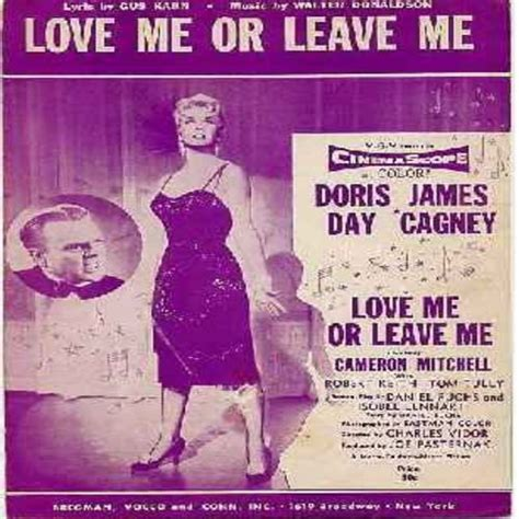 film love me or leave me love me or leave me original sheet music for the song
