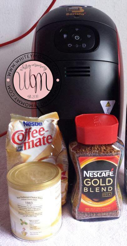 Dispenser Kopi Nescafe barista di rumah dengan nescaf 233 barista machines whitey