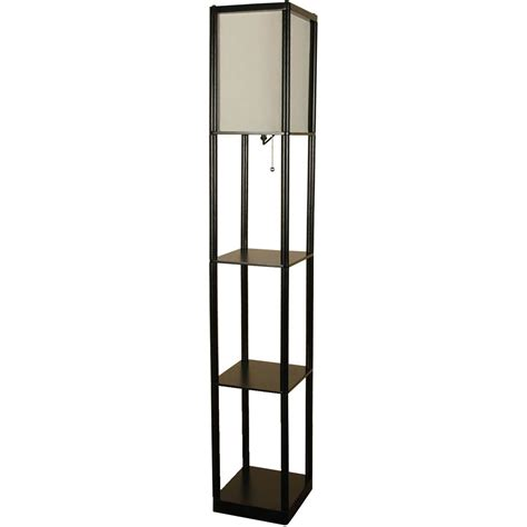 adesso wright shelf floor l mainstays black shelf floor l with white shade on