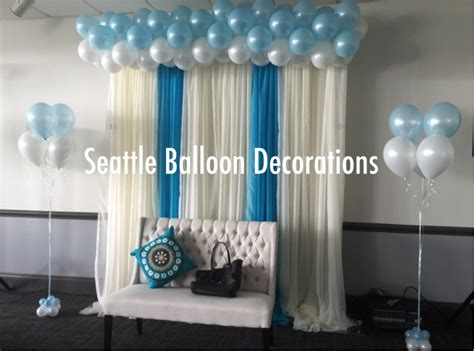 Cloud and rain drops balloons seattle balloon decorations