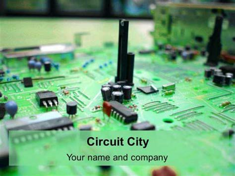 themes powerpoint electronics circuit city powerpoint template