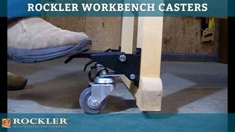 rockler workbench casters youtube