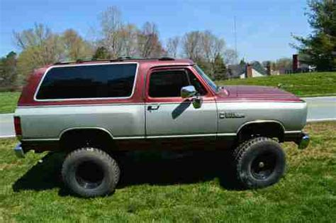 dodge charger lifted sell used 1988 dodge ram charger lifted in greensboro